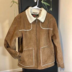 Old Navy Vintage Faux Suede Sherpa Lined Jacket